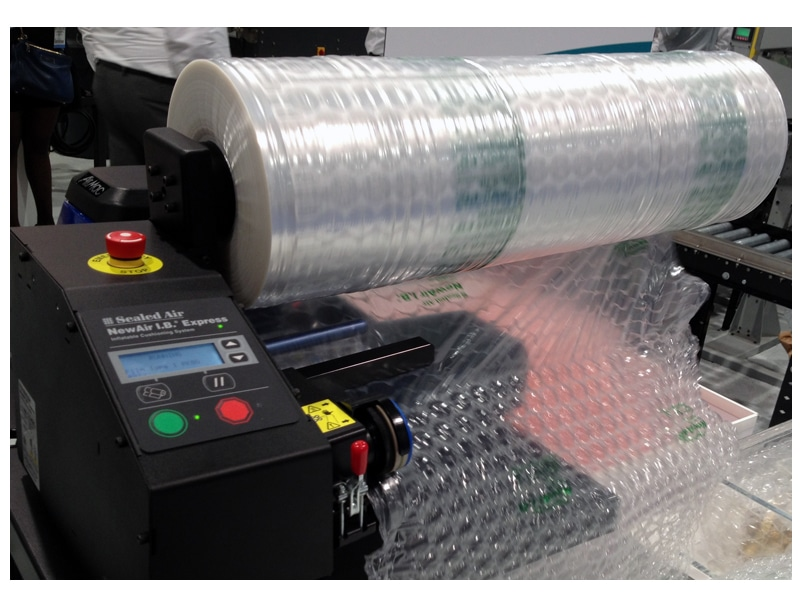 Inflatable Bubble Cushioning System Packaging Operations